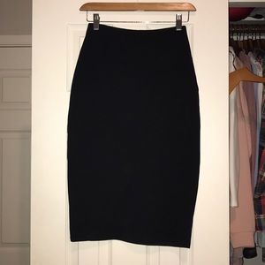 Black pencil skirt from Charlotte Russe
